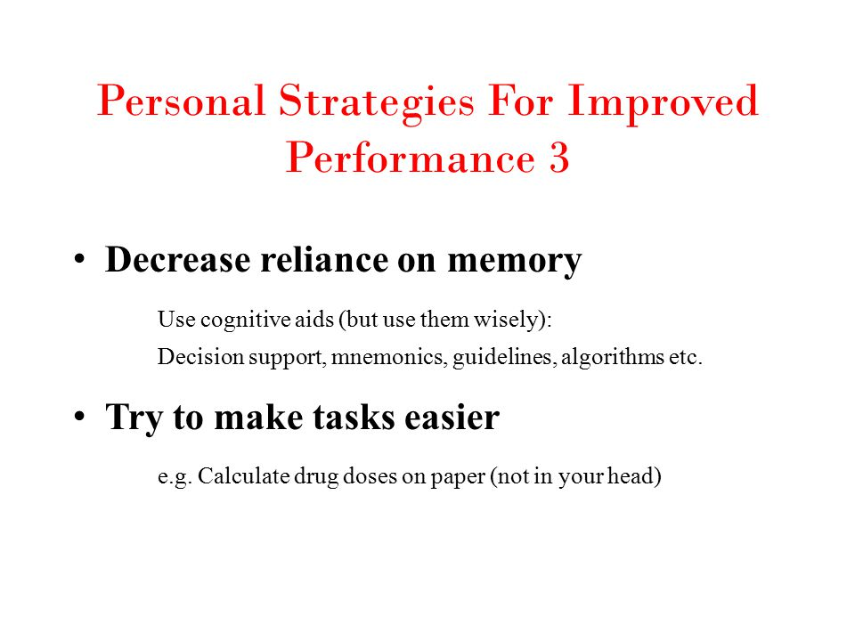 Personal Strategies For Improved Performance 3