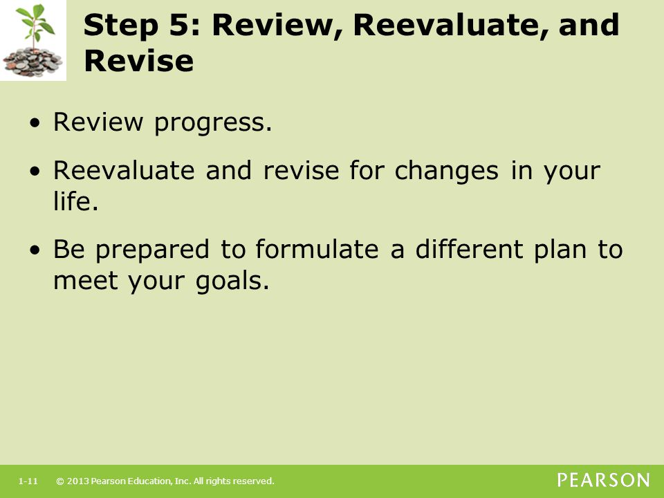 Step 5: Review, Reevaluate, and Revise