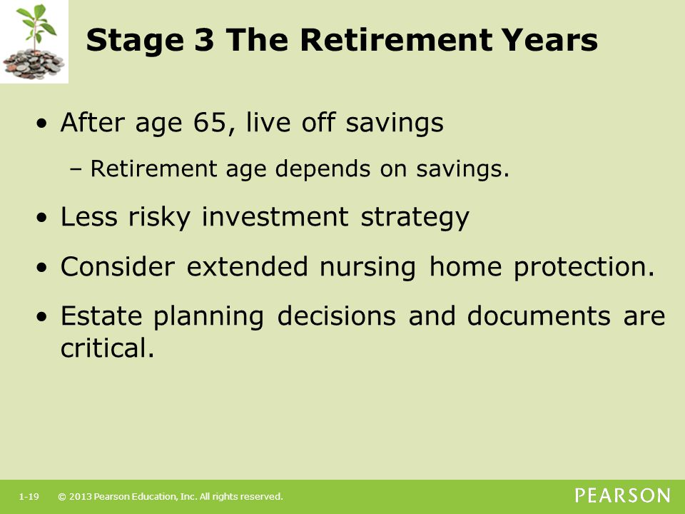 Stage 3 The Retirement Years