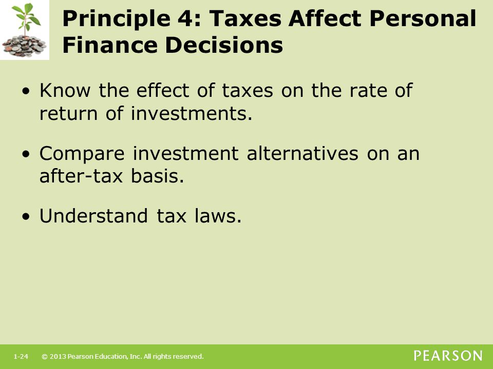 Principle 4: Taxes Affect Personal Finance Decisions