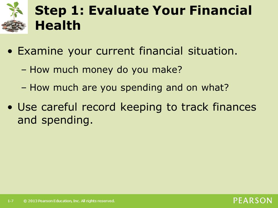 Step 1: Evaluate Your Financial Health