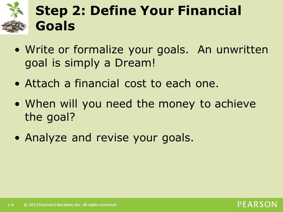 Step 2: Define Your Financial Goals