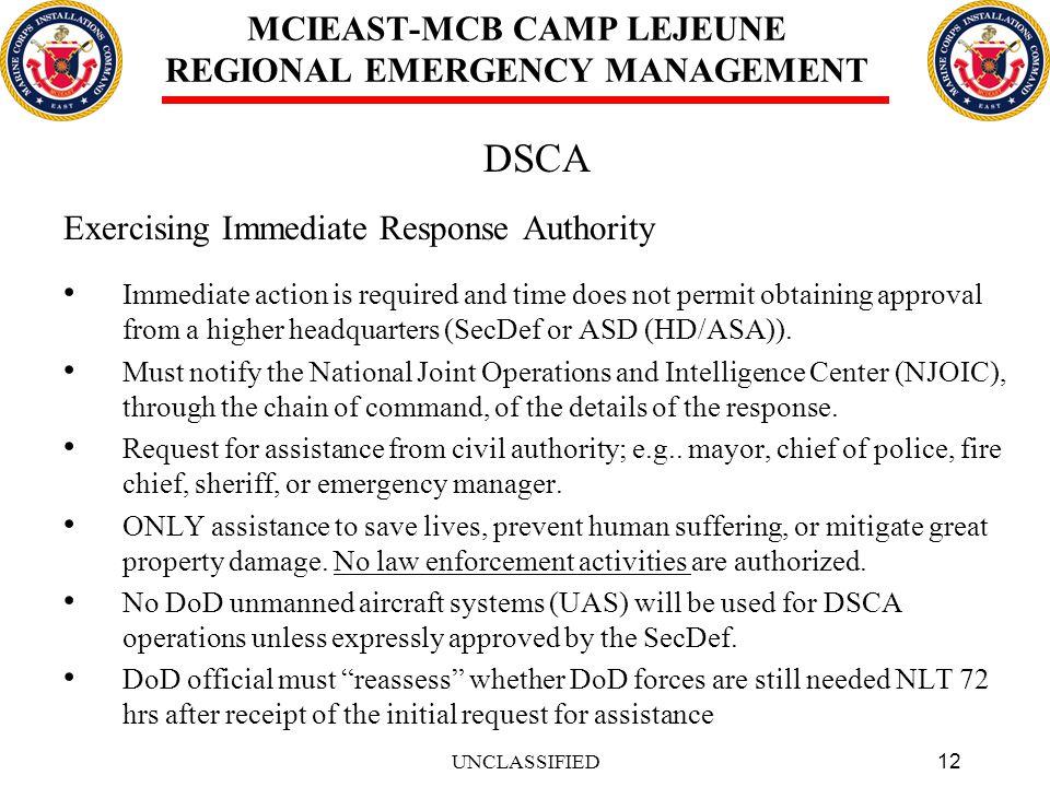MCIEAST-MCB CAMP LEJEUNE REGIONAL EMERGENCY MANAGEMENT