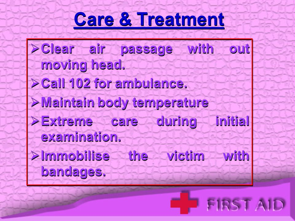 Care & Treatment Clear air passage with out moving head.