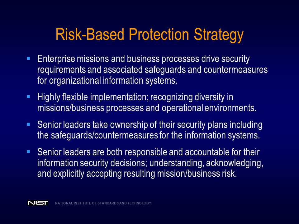Risk-Based Protection Strategy