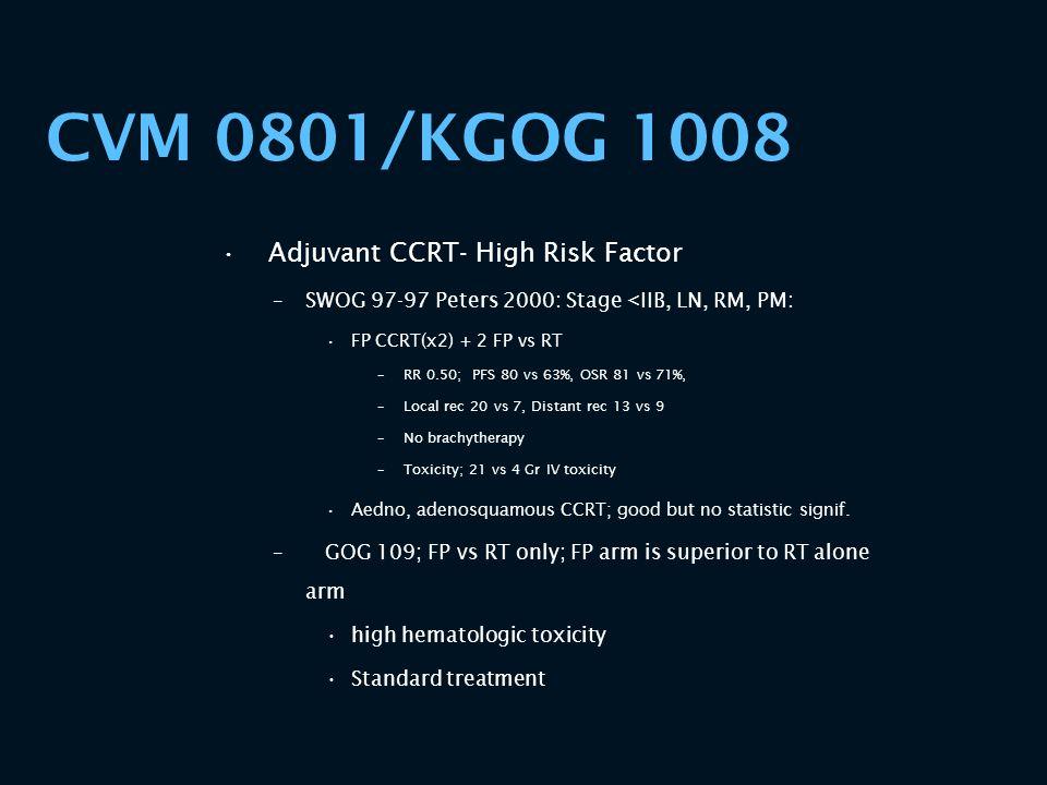 CVM 0801/KGOG 1008 Adjuvant CCRT- High Risk Factor
