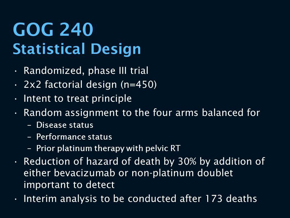 GOG 240 Statistical Design