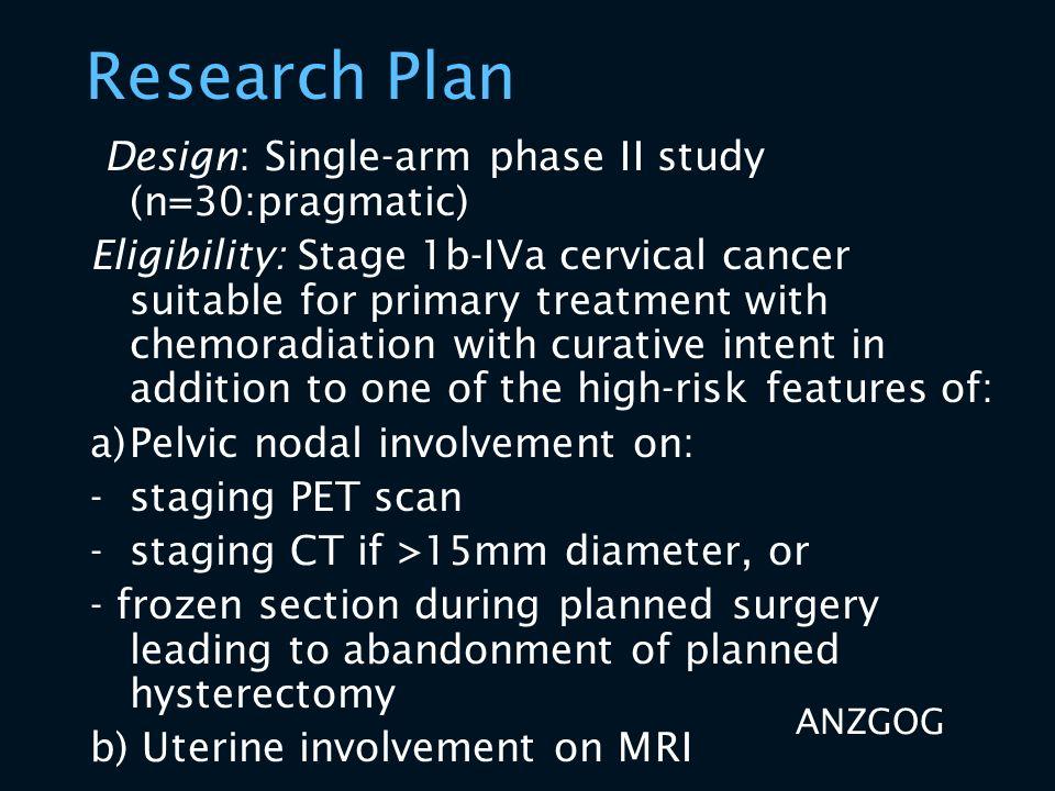 Research Plan Design: Single-arm phase II study (n=30:pragmatic)