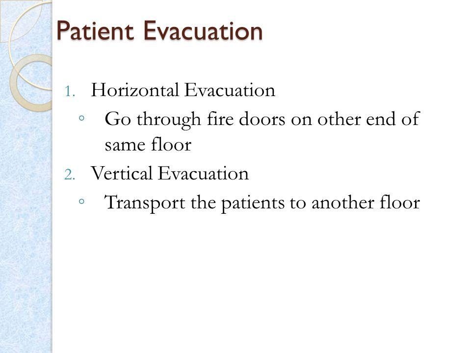 Patient Evacuation Horizontal Evacuation