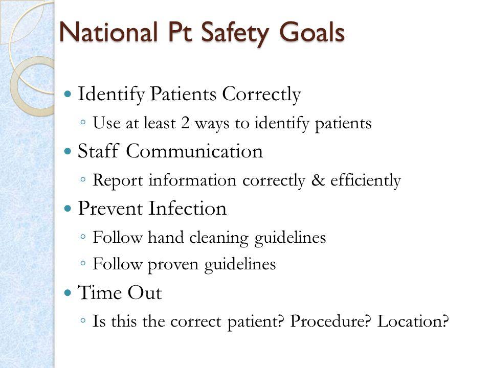 National Pt Safety Goals