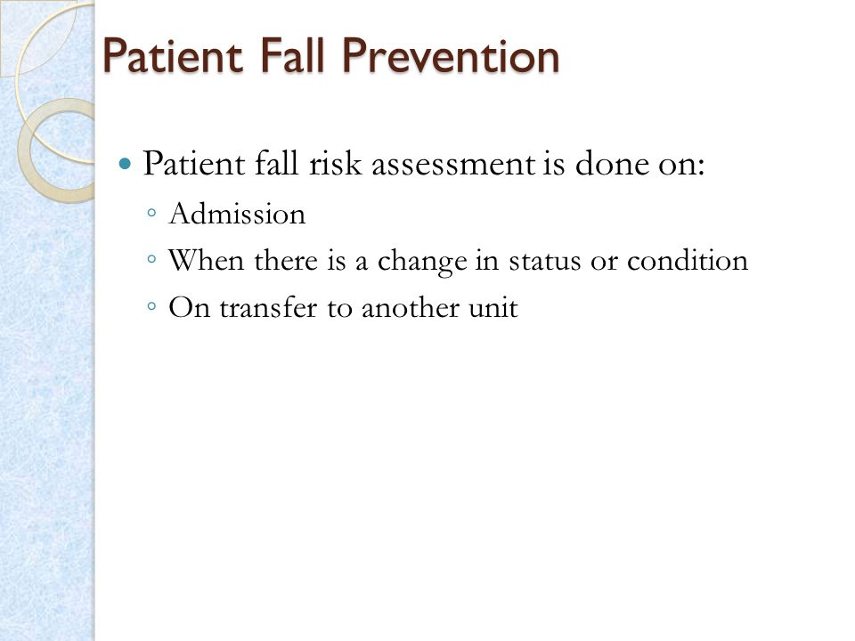 Patient Fall Prevention