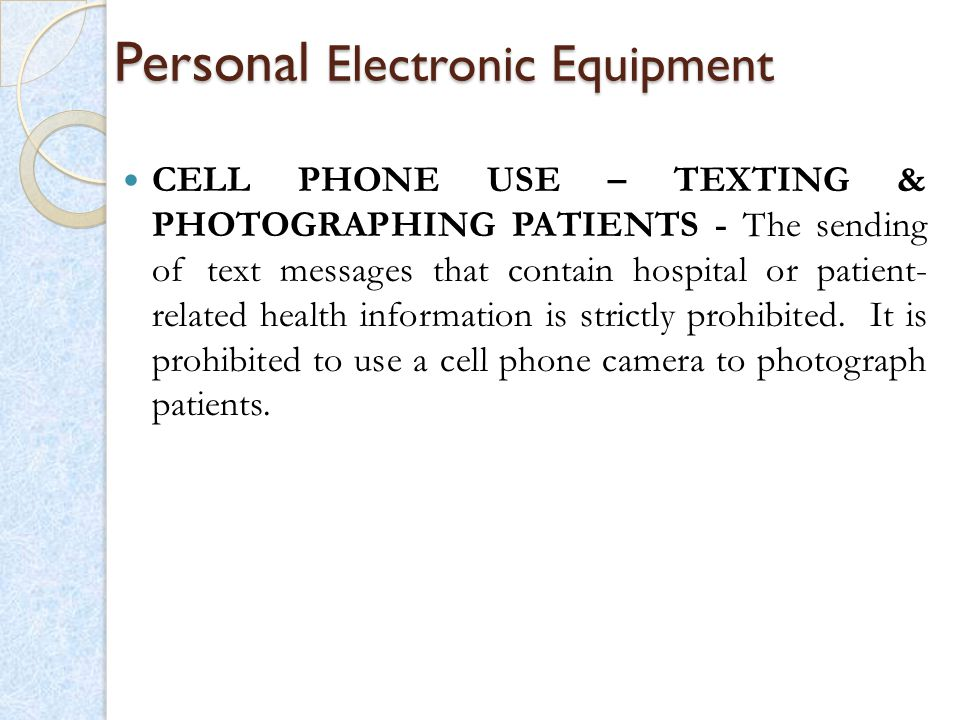 Personal Electronic Equipment
