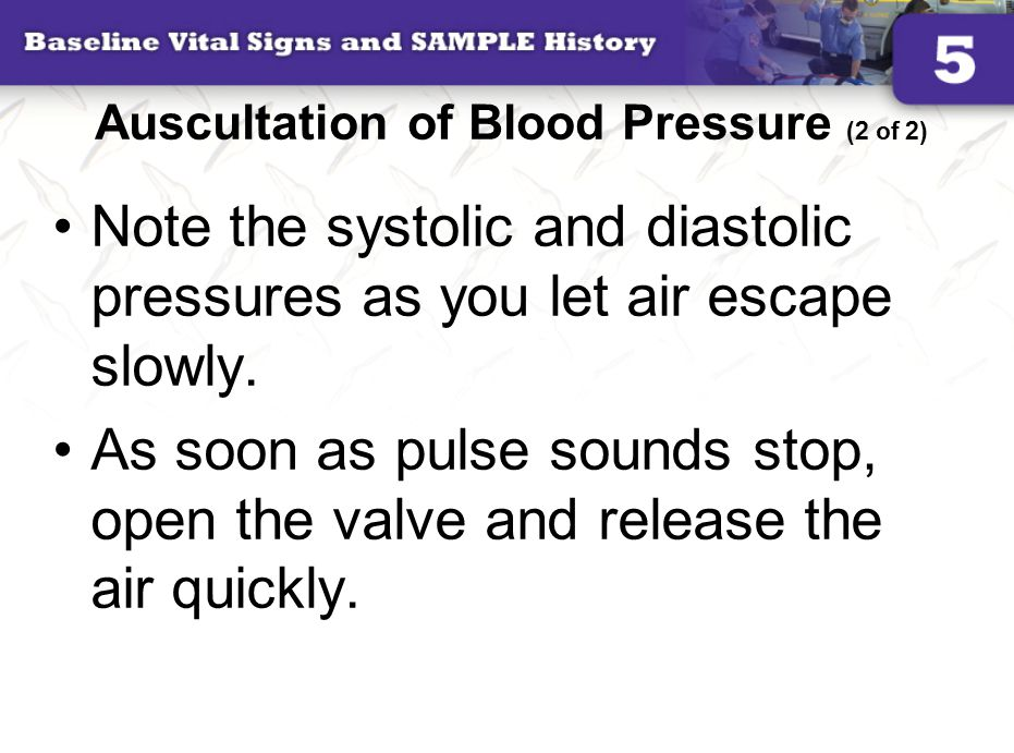 Auscultation of Blood Pressure (2 of 2)