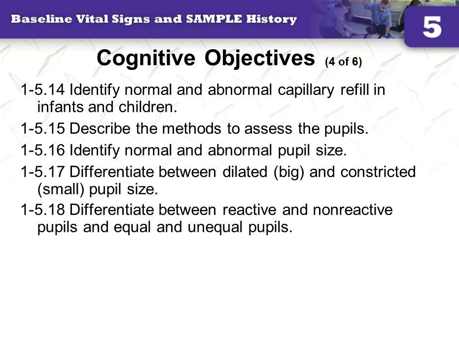 Cognitive Objectives (4 of 6)
