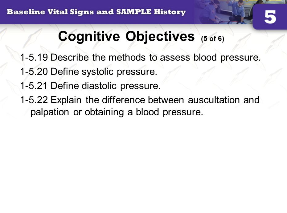 Cognitive Objectives (5 of 6)