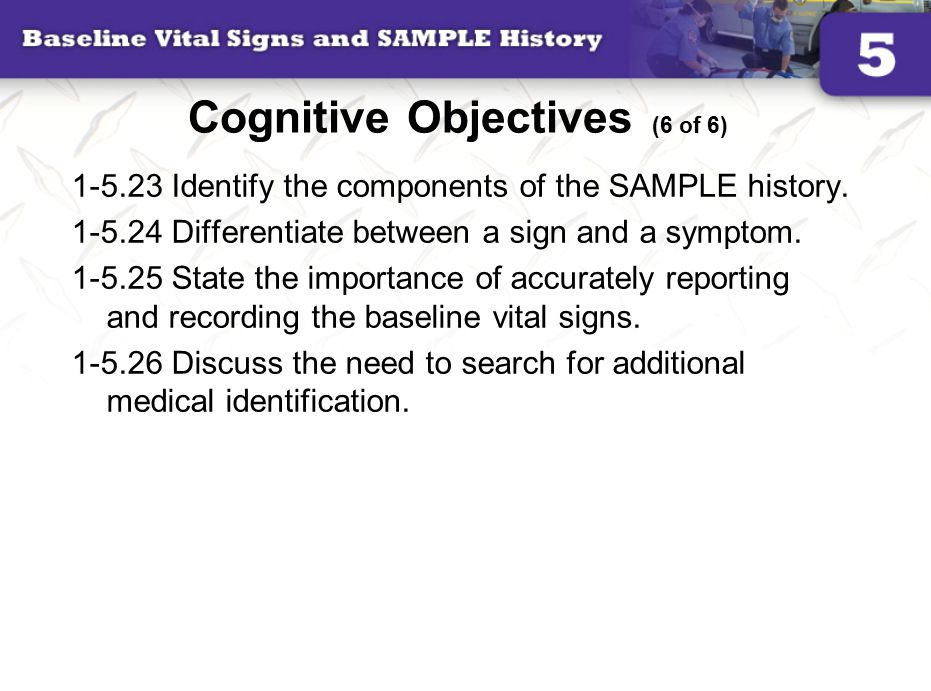 Cognitive Objectives (6 of 6)
