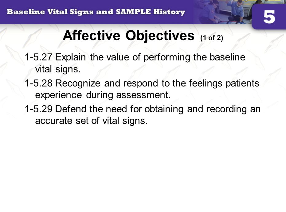 Affective Objectives (1 of 2)