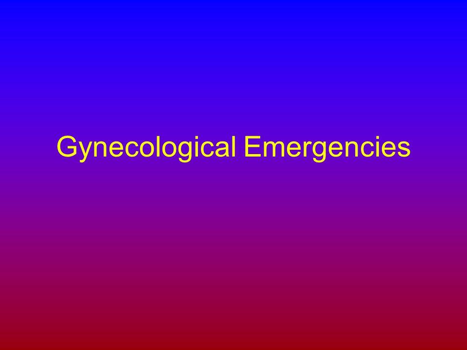 Gynecological Emergencies