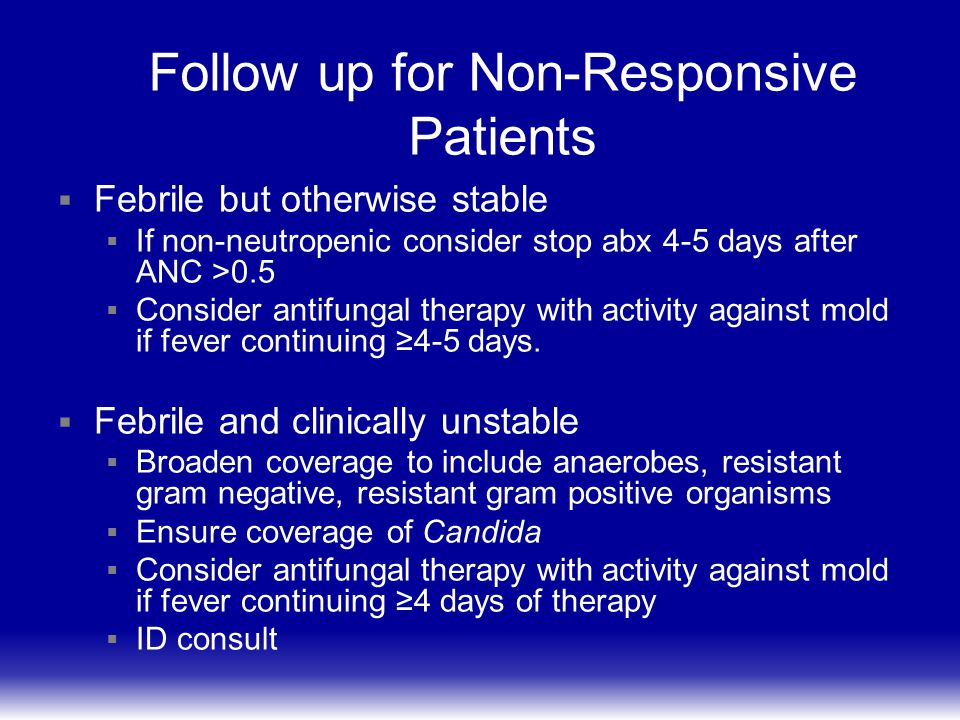 Follow up for Non-Responsive Patients