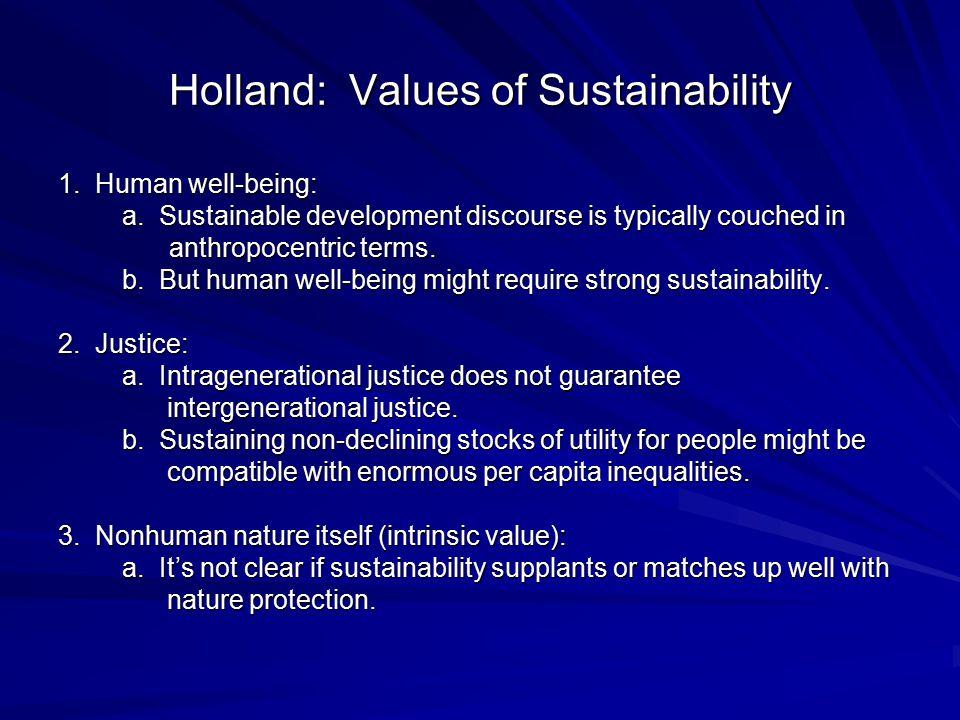 Holland: Values of Sustainability