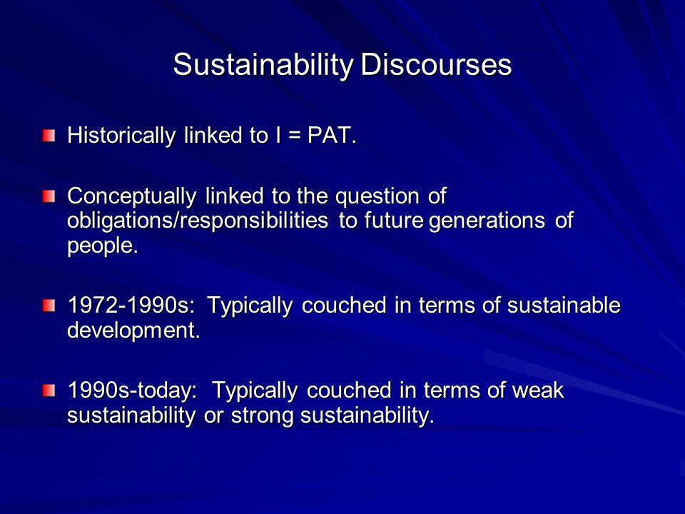 Sustainability Discourses