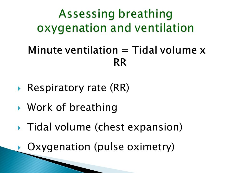 Assessing breathing oxygenation and ventilation