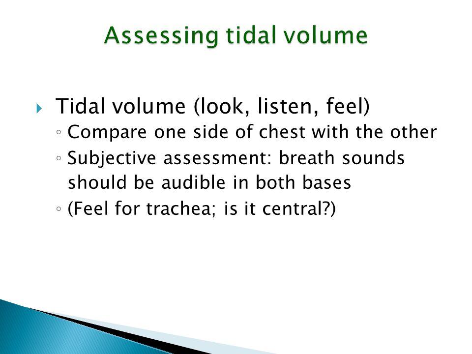 Assessing tidal volume
