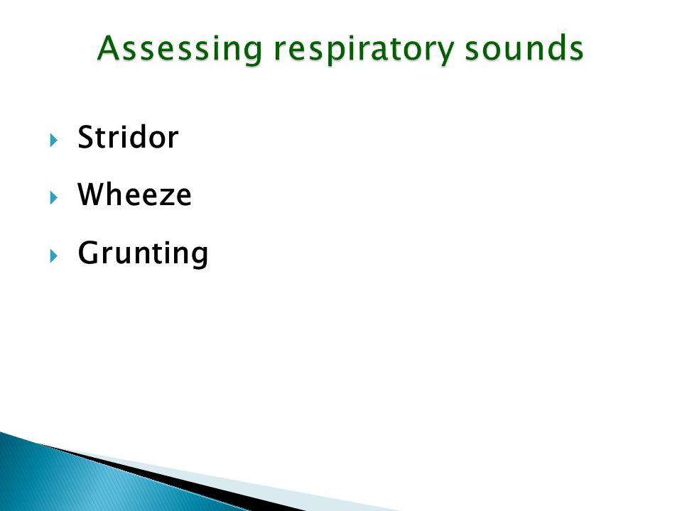 Assessing respiratory sounds