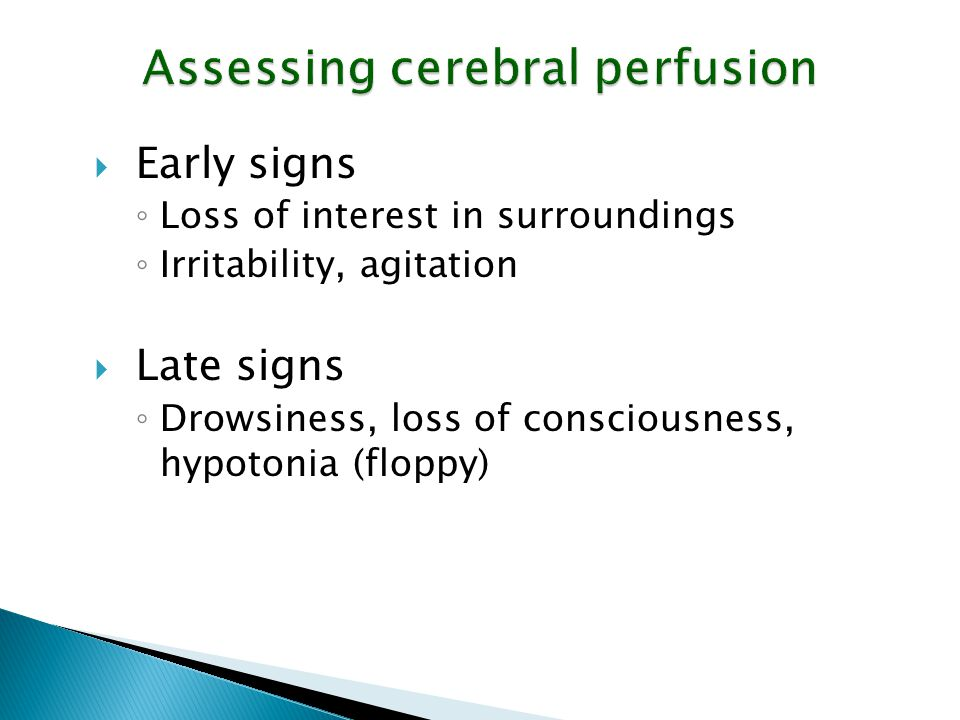 Assessing cerebral perfusion