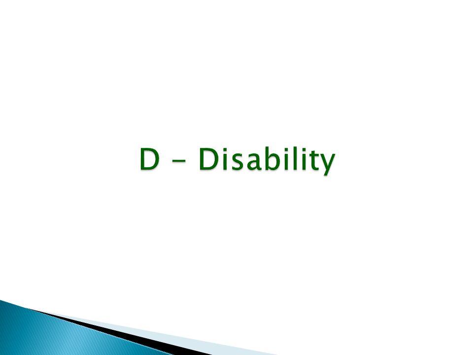D - Disability