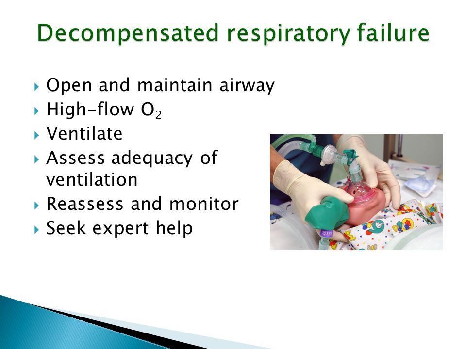 Decompensated respiratory failure