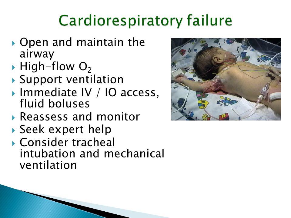 Cardiorespiratory failure