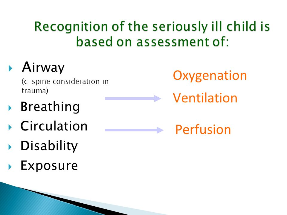 Recognition of the seriously ill child is based on assessment of:
