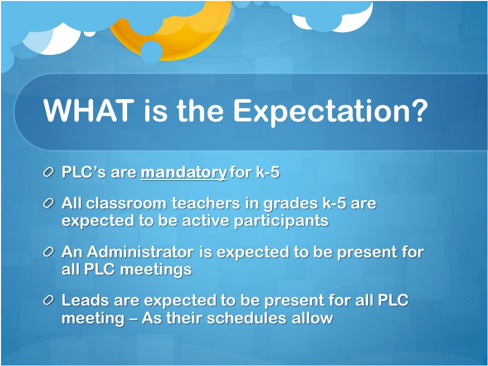 WHAT is the Expectation