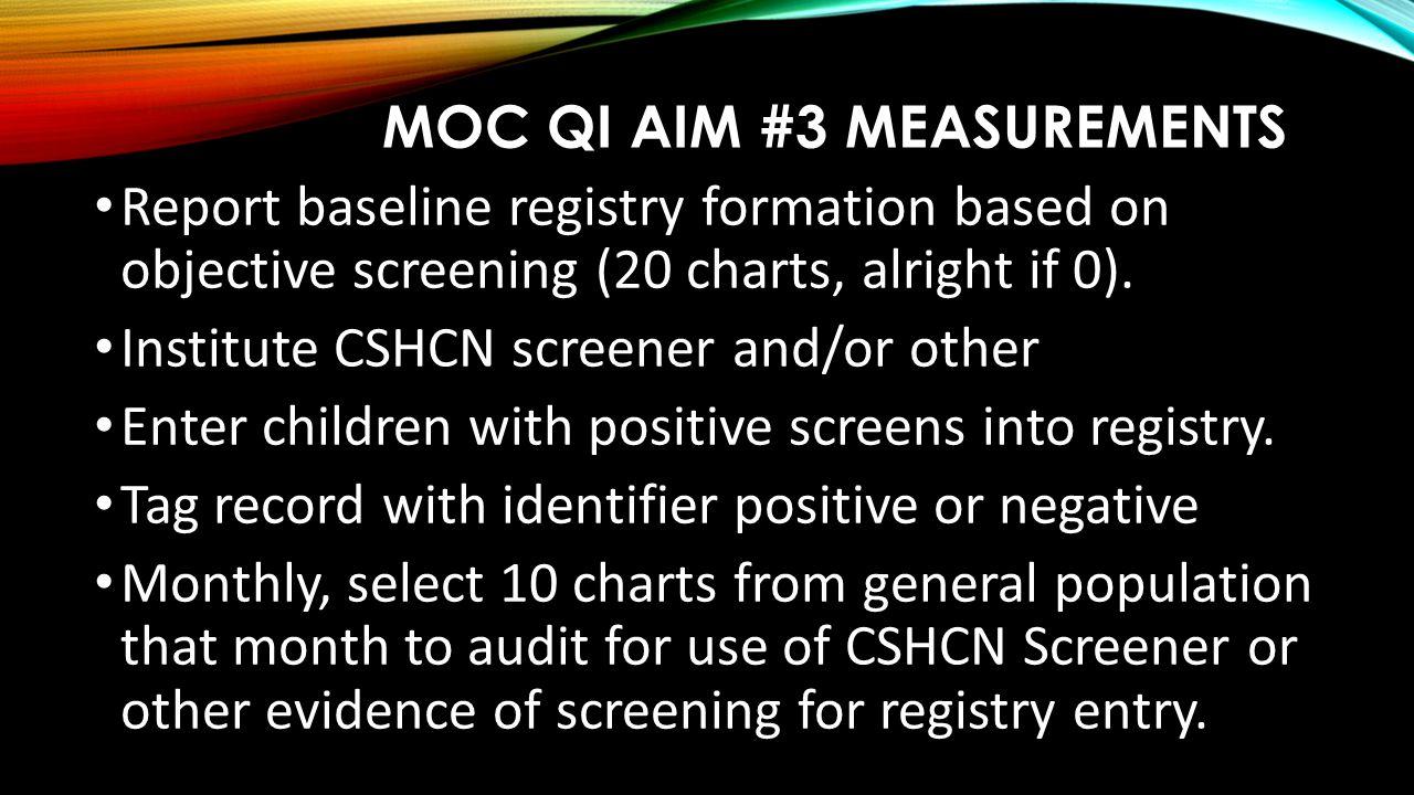MOC QI Aim #3 Measurements