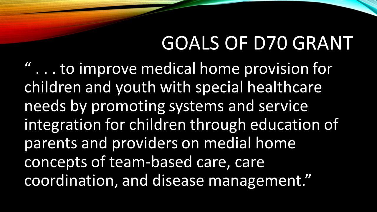 Goals of D70 Grant