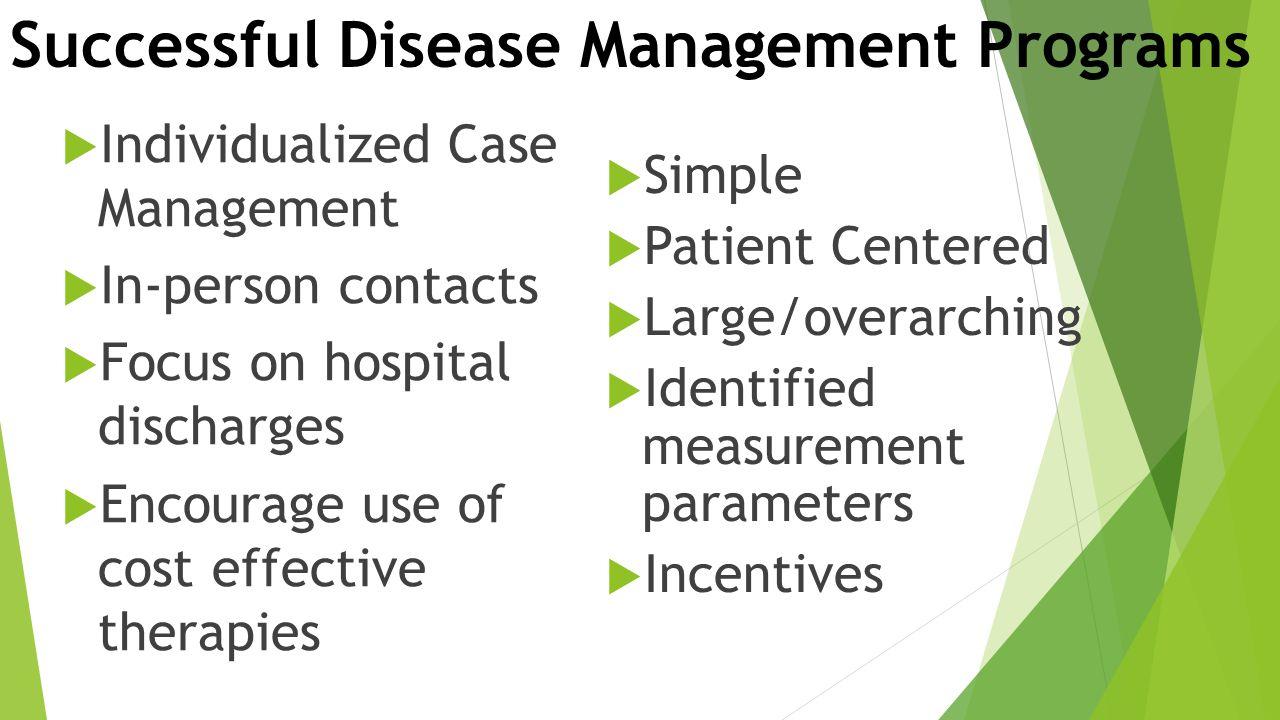 Successful Disease Management Programs