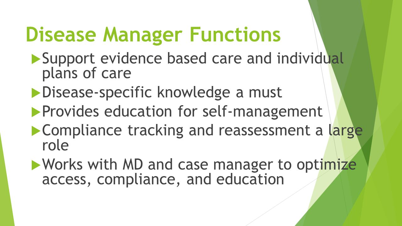 Disease Manager Functions