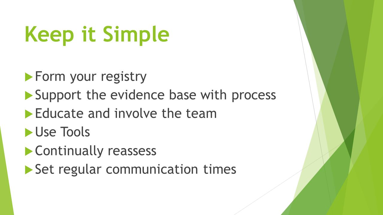 Keep it Simple Form your registry