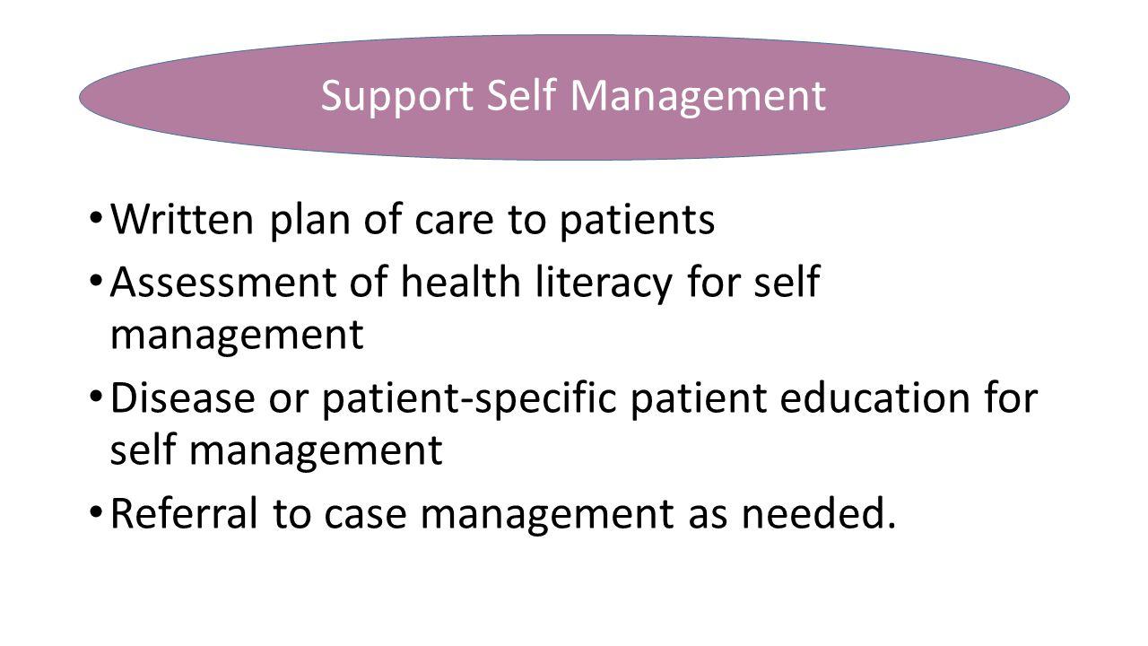 Support Self Management