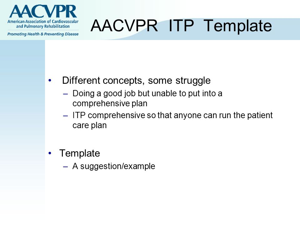 AACVPR ITP Template Different concepts, some struggle Template