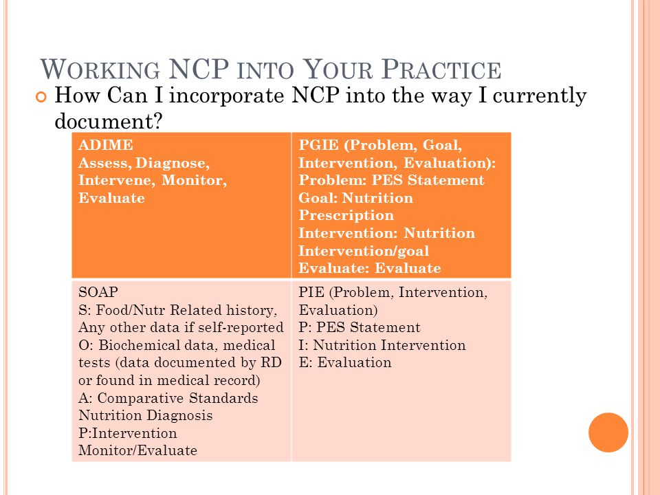 Working NCP into Your Practice