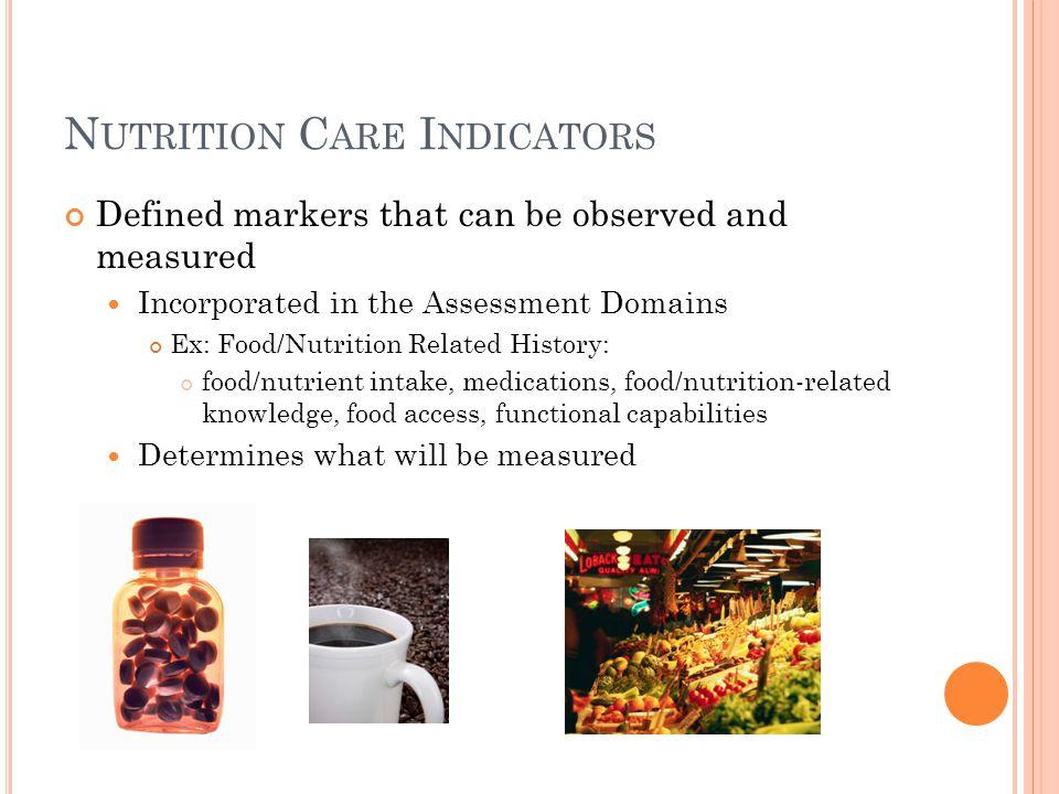 Nutrition Care Indicators
