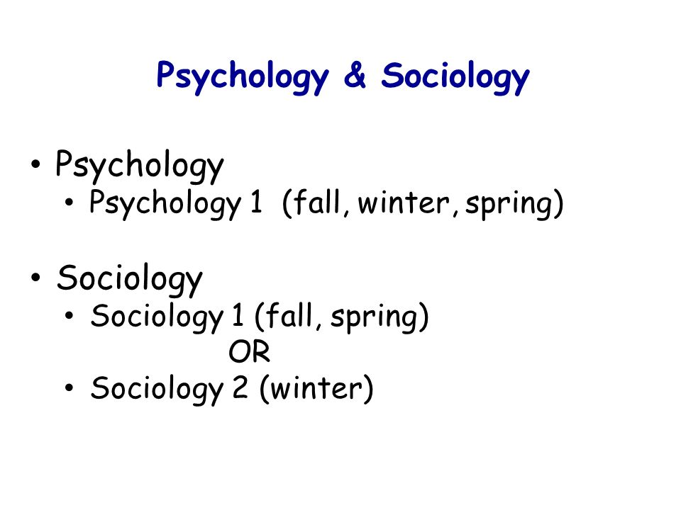 Psychology & Sociology