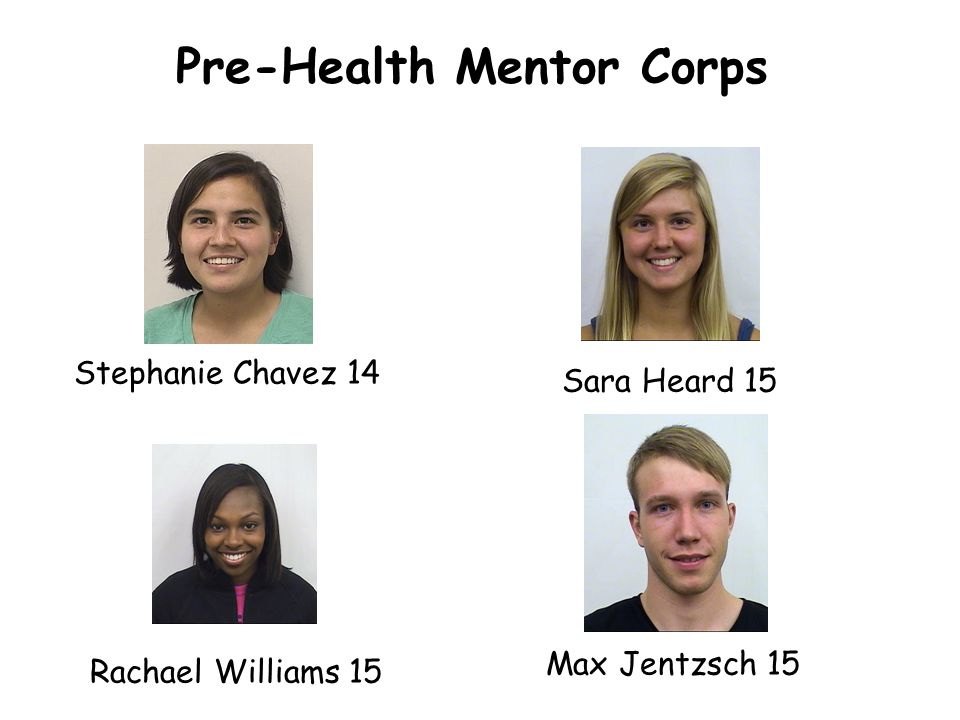 Pre-Health Mentor Corps