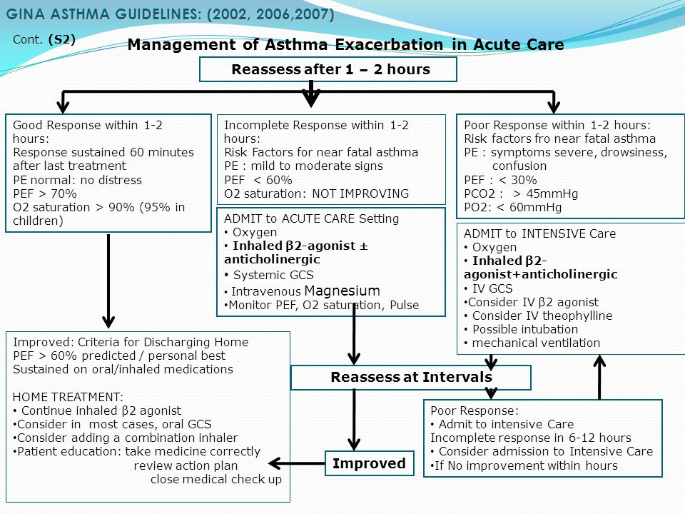 GINA ASTHMA GUIDELINES: (2002, 2006,2007)