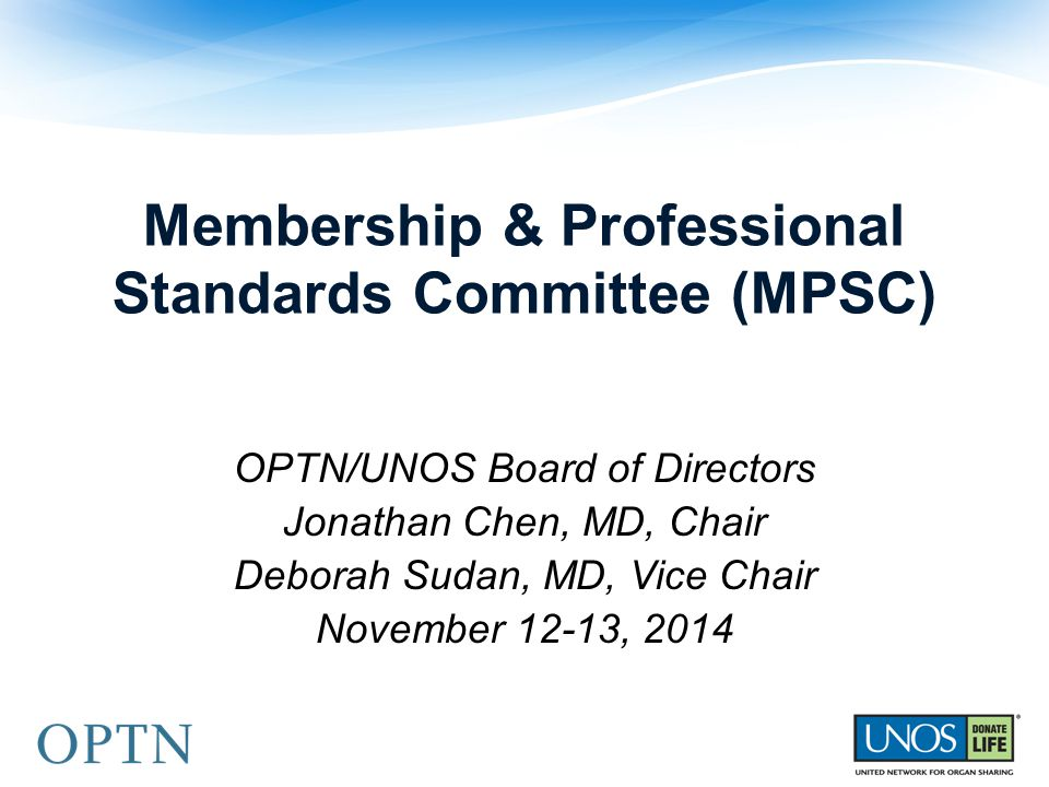 Membership & Professional Standards Committee (MPSC)