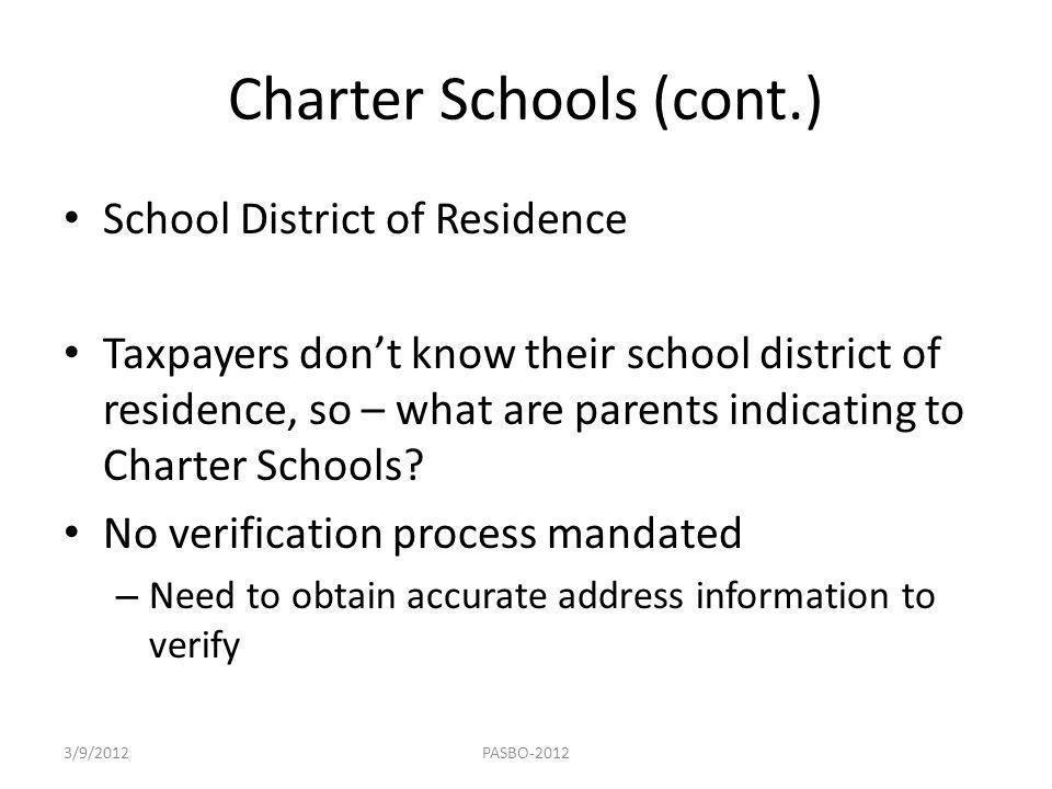 Charter Schools (cont.)