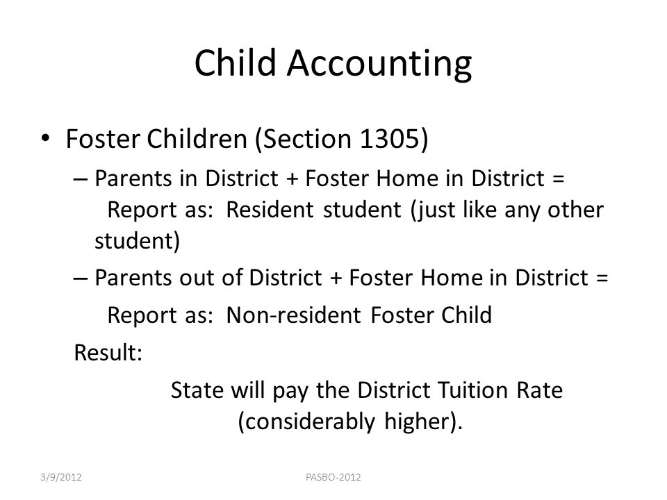 State will pay the District Tuition Rate (considerably higher).