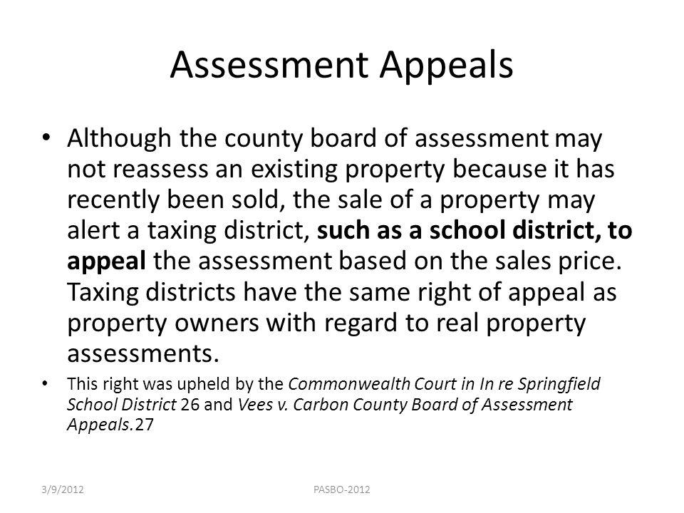 Assessment Appeals